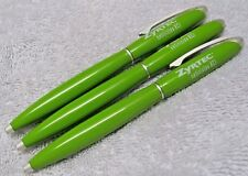 3 ZYRTEC HEAVY METAL DRUG REP PENS SEXY SHAPE LIME GREEN ~ SCRATCH & DENT SALE ~