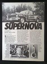 1977 Chevy Super Nova Vintage 3-Page Article AD