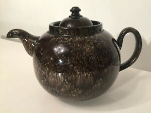 Vintage ALB Pottery 3 Pint Brown Betty Teapot