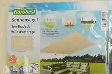Florabest Sonnensegel Sonnenschutz UV Schutz 60 Rechteckig 300 x 200 cm beige