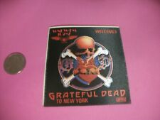 VINTAGE ORIG. Grateful Dead satin cloth radio promo sticker WNEW NEW YORK  !