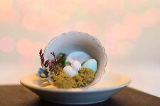 Vintage Retro Baby Bunny Rabbit Shabby Easter Spring Mini Tea Cup Decoration
