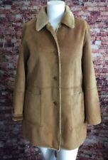 Juliet Michelle by Adler Brown Faux Fur Inside Duffle Coat Size M