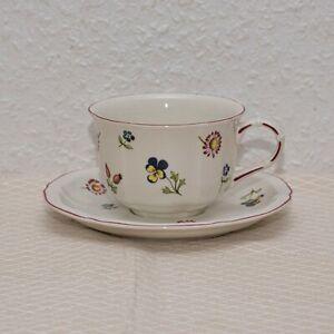 Villeroy & Boch Petite Fleur Teetasse oder Kaffeetasse mit Untertasse Tasse No.1
