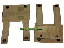 New 2 USMC USGI 3 Color Desert Tan ALICE Clip Adapter to MOLLE II Web & Belt