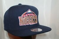 Denver Nuggets Mitchell & Ness NBA Wool Solid 2 Snapback,Hat,Cap        NEW