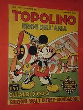 DISNEY- TOPOLINO eroe dell'aria N°1 DEL 1937- albi d'oro AMATORIALE regno