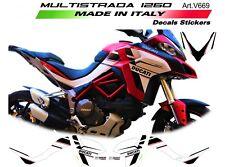 Kit adesivi per Ducati Multistrada 1260 Design personalizzato Bianco-Nero-Rosso
