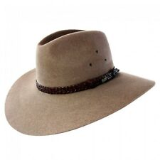 Akubra Riverina Wide Brim Felt Hat - Bran 59cm