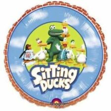 """Anagram SITTING DUCKS Character Round Foil Helium Balloon All Occasion 18"""" 45cm"""