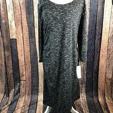 LIZ LANGE MATERNITY Dress Black Ebony Space Dye Tank Sleeveless Sundress Small