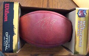 Drew Brees Wilson Autograph NFL Official Game Ball.  Beckett COA.