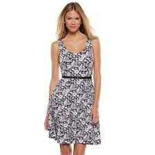 Brand New LC Lauren Conrad floral Print Fit & Flare Dress (Size- L) + Free Ship