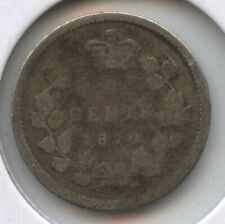 Canada 1870 Silver Coin 5 Cents - Queen Victoria - BC598