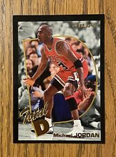 1993 Fleer Michael Jordan #5 Total D Insert Black Boarder Card Chicago Bulls HOF