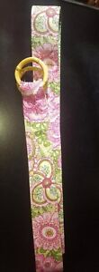 VERA BRADLEY Belt with Bamboo Rings, Pink Green Yellow Floral  (NWOT)