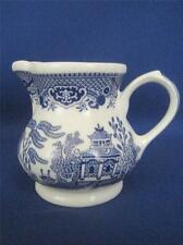 Vintage CHURCHILL ENGLAND Blue Willow Pottery Cream Milk Pitcher