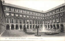 Hampton Court Palace. The Fountain Court # 506 by LL / Levy. Black & White.