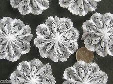 20pc WHITE Lace Rosettes (4cm)-  Bows Appliques/Craft/Wedding Decoration
