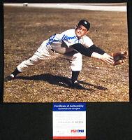 Gene Woodling {1922-2001} New York Yankees Signed 8x10 Photo PSA/DNA