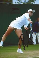 TENNIS: ASHLEIGH BARTY SIGNED 6x4 ACTION PHOTO+COA *WIMBLEDON*