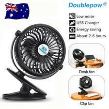 Clip On Mini Fan USB Cooling Strong Airflow Desk Table Notebook Laptop Office Z
