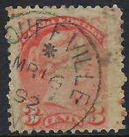 Scott 41, 3c vermilion Small Queen, MARCH 16 1892 ASTERISK Stouffville ON cancel