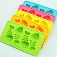 Gräte-förmige Silikon Eiswürfelformen Schokolade Pudding Eiswürfel Behälter Form