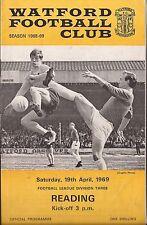 Programma di calcio-Watford V lettura-DIV 3 - 19/4/69