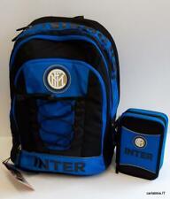 d7bce5a186 Inter zaino scuola + astuccio 3 cerniere-prodotto ufficiale-nero azzurro