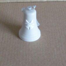 Wedgwood Jasperware Light Taupe Brown Bells & Bows Christmas Tree Decoration