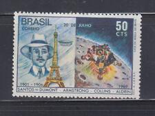 Brazil  1969 Santos-Dumont Moon Landing Sc 1138 Mint Never Hinged