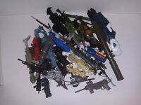 TOY WEAPON LOT OF 60 VINTAGE AND NEW LARGE MIX GUNS ALL KINDS OF TOY LINES