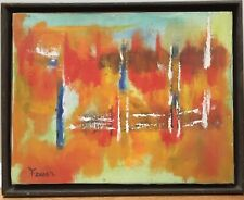 Vintage Mid Century Modern Abstract Oil Painting