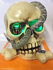 Halloween Animated Skull & Snake Light Up With Sound NEW Free Ship