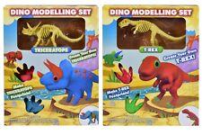 Dinosaur Modelling Set Kids Indoor Craft Putty Activity Fossil Figure 2 Designs