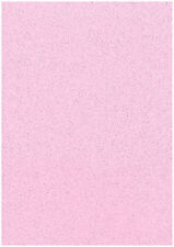 Pack Of 10 Sheets Soft Baby Pink A4 Stardust Sparkling Glitter Card 285gsm Craft