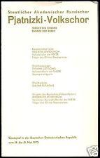 Konzertprogramm, Staatlicher Akademischer Russischer Pjatnizki-Volkschor, 1973