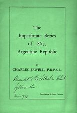 The Imperforate Series of 1867, Republica Argentina by Charles Jewell.