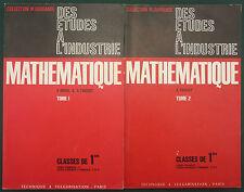 DUVAL - MATHEMATIQUES CLASSES DE 1ERE - DURANDE TECHNIQUE - INDUSTRIE