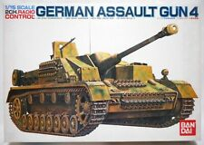 Vintage 1982 Bandai Rc Tank 1/15 German Assault Gun 4 Nib
