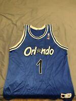 Champion NBA Orlando Magic Blue Hardaway #1 Orlando Magic Jersey Vintage Size 48
