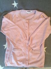 Boden Ladies Cardigan Size 10 Pink Glitter Sequin 100% Wool