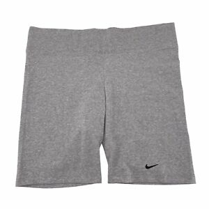 Nike Women's Tight Fit Yoga Shorts Cotton Blend Stretch Gym Activewear Gray 2XL