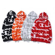 Men's Women's Champion Sweater Hoodie Sweatshirts Long Sleeve Embroidered Hooded