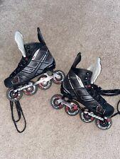 New listing Tour Fishbone Fb-425 Lite Inline Roller Hockey Skates Mens Size 3 Black Red