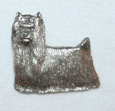Yorkshire Terrier Yorkie Show Dog Fine PEWTER PIN Jewelry Art USA Made