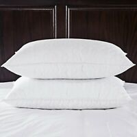 Puredown® 2 Pack White Goose Feather & Down Bed Pillows Wave Quilting Design