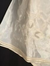 Vintage bloomers Flapper XL tap Panties 100% rayon Ivory pinup 20's embroidery