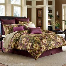 3-Pc Tommy Bahama Havana Garden Queen Duvet Set Hawaiian Tropical Floral Purple